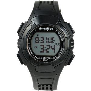 Time Piece(タイムピース) 腕時計 電波時計 ソーラー(デュアルパワー) デジタル ブラック TPW-002BK