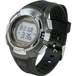 Time Piece(タイムピース) 腕時計 電波時計 ソーラー(デュアルパワー) デジタル ガンメタ TPW-002GM
