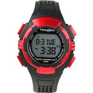 TimePiece(タイムピース)腕時計電波時計ソーラー(デュアルパワー)デジタルレッドTPW-002RD