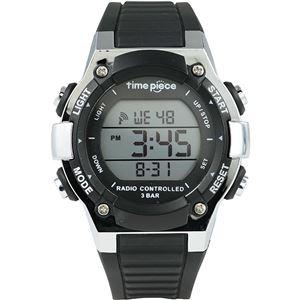 TimePiece(タイムピース)腕時計電波時計デジタルブラックTPW-003BK