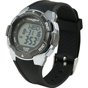 Time Piece(タイムピース) 腕時計 ランニングウォッチ 20LAP デジタル ブラック/グレー TPW-004BK