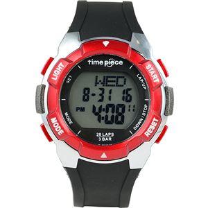 TimePiece(タイムピース)腕時計ランニングウォッチ20LAPデジタルレッドTPW-004RD