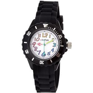 CACTUS (カクタス) キッズ腕時計 カラフルインデックス ブラック CAC-62-M01 - 拡大画像