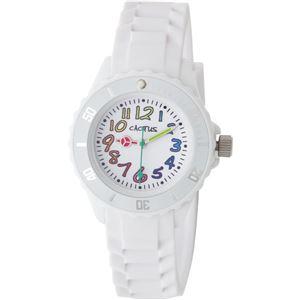 CACTUS (カクタス) キッズ腕時計 カラフルインデックス ホワイト CAC-62-M11 - 拡大画像