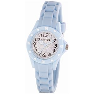 CACTUS (カクタス) キッズ腕時計 ハート ラメ ブルー CAC-91-L04 - 拡大画像