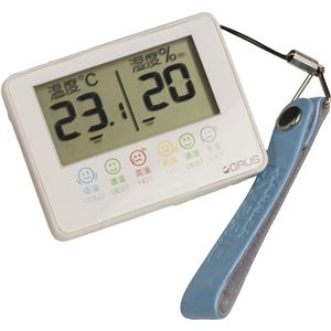 GRUS(グルス) デジタル 温湿度計 室内 携帯用 GRS102-01