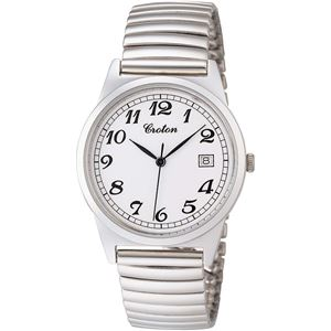 CROTON(クロトン)  腕時計 3針 デイト 10気圧防水 伸縮バンド RT-140M-3