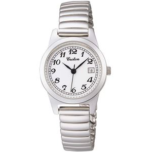 CROTON(クロトン)腕時計3針デイト10気圧防水伸縮バンドRT-140L-3