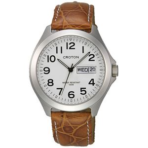 CROTON(クロトン)腕時計3針デイデイト10気圧防水RT-144M-3