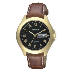CROTON(クロトン)腕時計3針デイデイト日本製10気圧防水RT-144M-A