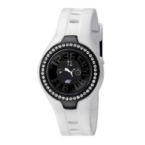 PUMA(プーマ) 腕時計 BLOCKBUSTER CIRCUIT(ブロックバスターサーキット) stones レディース ブラック×ホワイト BBC4