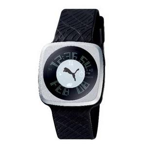 PUMA(プーマ) 腕時計 BLOCKBUSTER(ブロックバスター) gents シルバー×ブラック BB4