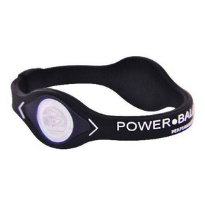 POWER BALANCE(パワーバランス) シリコンブレスレット ブラック Mサイズ