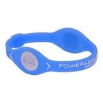 POWER BALANCE(パワーバランス) シリコンブレスレット ブルー Sサイズ