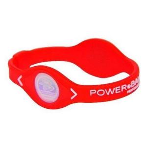 POWER BALANCE(パワーバランス) シリコンブレスレット レッド Mサイズの写真1