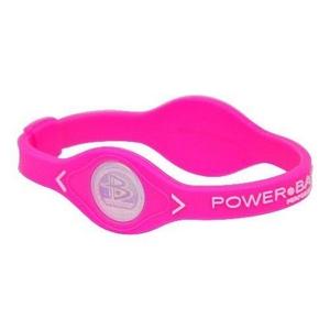 POWER BALANCE(パワーバランス) シリコンブレスレット ピンク Mサイズ画像1