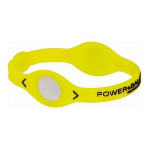 POWER BALANCE(パワーバランス) シリコンブレスレット イエロー Sサイズの写真1