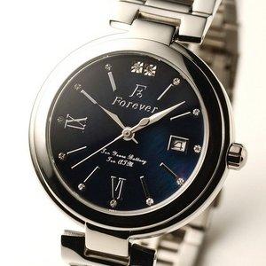 Forever(フォーエバー)  腕時計 デイト付き  FG-1201-10 ブラックシェル×ブラック h02