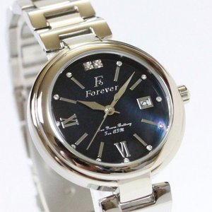 Forever(フォーエバー)  腕時計 デイト付き  FG-1201-10 ブラックシェル×ブラック f04