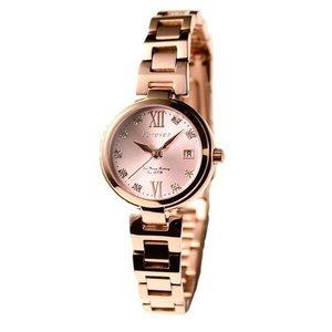 Forever(フォーエバー)  腕時計 デイト付き FL-1201-3  ピンク×ピンクゴールド