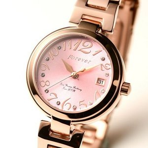 Forever(フォーエバー)  腕時計 デイト付き FL-1201-7 ピンク h02