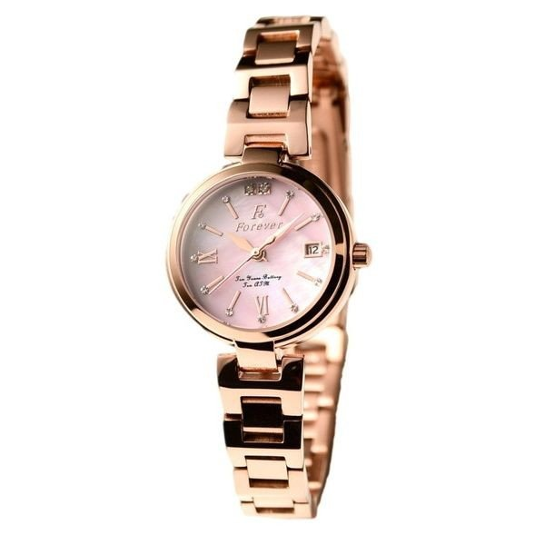 Forever(フォーエバー)  腕時計 デイト付き FL-1201-9 ピンクシェルf00