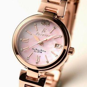 Forever(フォーエバー)  腕時計 デイト付き FL-1201-9 ピンクシェル h02