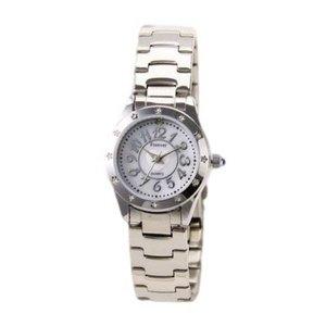 Forever(フォーエバー)  腕時計 1Pダイヤ FL-506-6 ホワイトシェル×シルバー