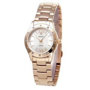 Forever(フォーエバー)  腕時計 1Pダイヤ FL-602-1 シルバー×ピンク
