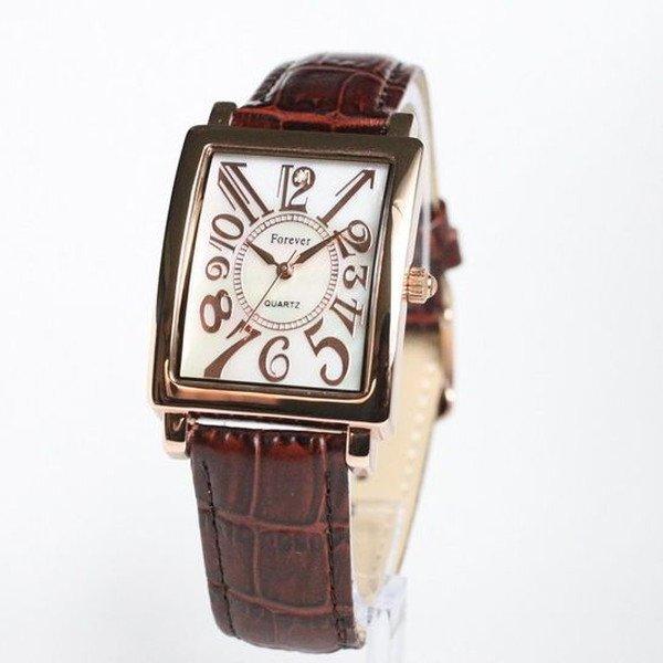 Forever(フォーエバー)  腕時計 1Pダイヤ FG-330PGWH ホワイト×ブラウンf00