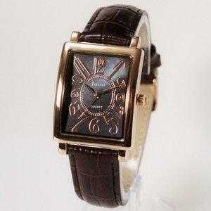 Forever(フォーエバー)  腕時計 1Pダイヤ FG-330PGBK ブラック×ブラウン