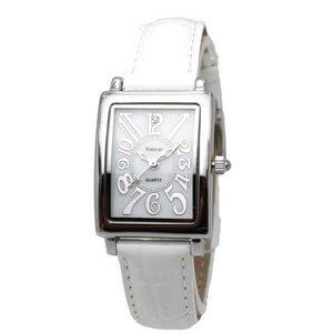 Forever(フォーエバー)  腕時計 1Pダイヤ FL-330SIWH-WH ホワイト×ホワイト
