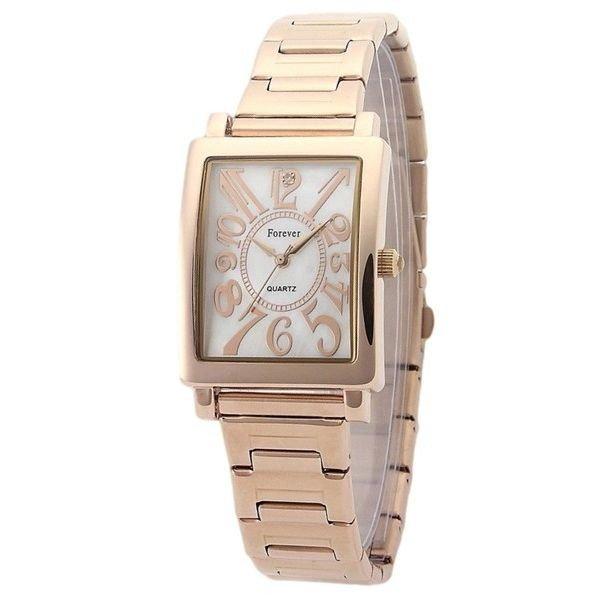 Forever(フォーエバー)  腕時計 1Pダイヤ FG-710-1 ホワイトシェル×ピンクf00