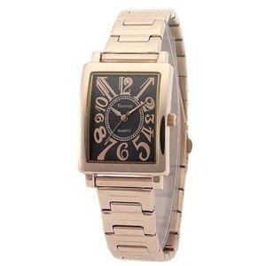Forever(フォーエバー)  腕時計 1Pダイヤ FG-710-5 ブラックシェル×ピンク