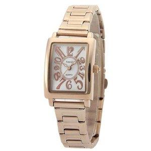 Forever(フォーエバー)  腕時計 1Pダイヤ FL-710-1 ホワイト×ピンクゴールド