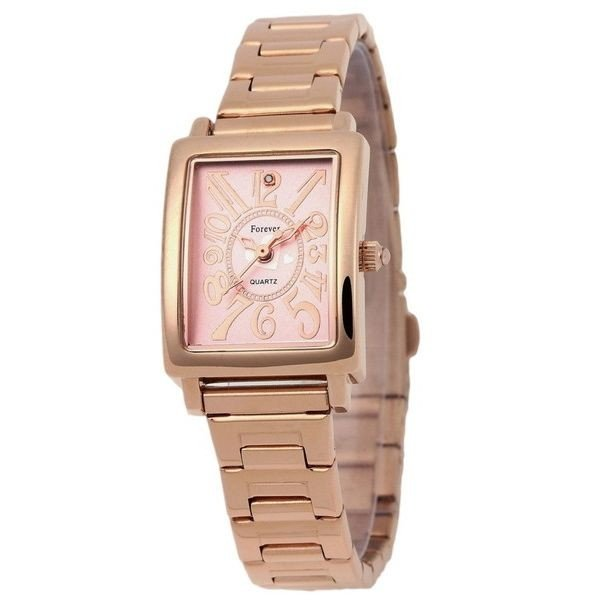 Forever(フォーエバー)  腕時計 1Pダイヤ FL-710-7 ピンクシェル(ハート)×ピンクゴールドf00