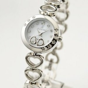 Forever(フォーエバー)  腕時計 1Pダイヤ  FL-1207-1 ホワイトシェル×シルバー - 拡大画像