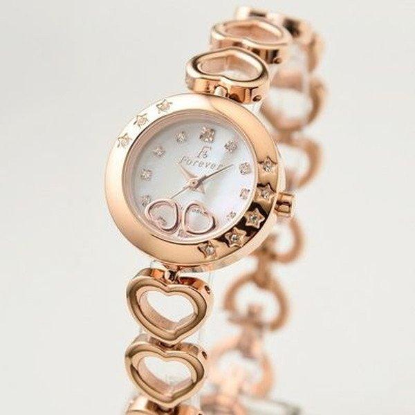 Forever(フォーエバー)  腕時計 1Pダイヤ FL-1207-1PG ホワイトシェル×ピンクゴールドf00