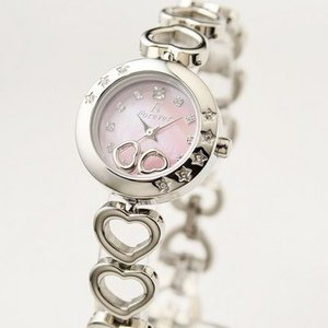 Forever(フォーエバー)  腕時計 1Pダイヤ FL-1207-2 ピンクシェル×シルバー - 拡大画像