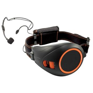 TOA(ティーオーエー) VOICE WALKER(ヴォイスウォーカー) ハンズフリー拡声器 ブラック&オレンジ ER-1000BK