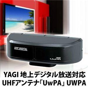 YAGI(八木アンテナ) 地上デジタル放送対応 ツインパネル型 UHFアンテナ UwPA(ウーパ) ブラック UWPA-B - 拡大画像