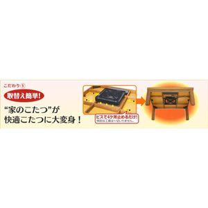 METRO(メトロ電気工業) コタツ用取替えヒーター 500W MS-504HS(K)画像2