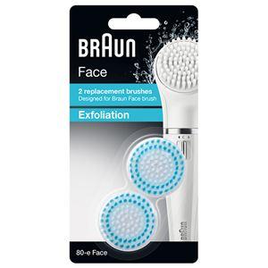 【訳あり・在庫処分】Braun(ブラウン) フェイス専用脱毛器 SE810用 角質ケアブラシ 80-E-FACE
