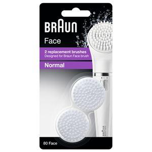 【本体別売】Braun(ブラウン) フェイス専用脱毛器 SE810 用 毛穴すっきり洗顔ブラシ 80-FACE