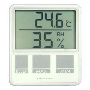 dretec(ドリテック)デジタル温湿度計O-214WTホワイト