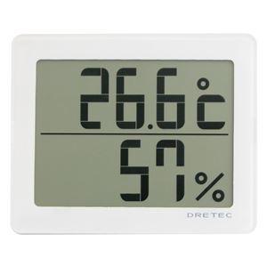 dretec(ドリテック)デジタル温湿度計「アクリア」O-226WTホワイト