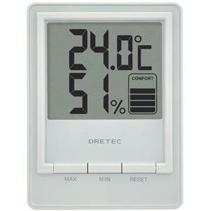 dretec(ドリテック) デジタル温湿度計「スタシス」 O-233WT ホワイト