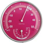 dretec(ドリテック) 温湿度計 O-310PK ピンク