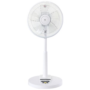 扇風機(DCリビング扇) 7段階風量調整可 リモコン付き タイマー搭載 ホワイト(白) UF-HR30J-W - 拡大画像