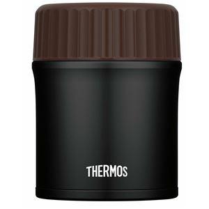 真空断熱スープジャー/ランチジャー 【マットブラック】 380ml ステンレス製魔法びん構造 保温保冷対応 『THERMOS サーモス』